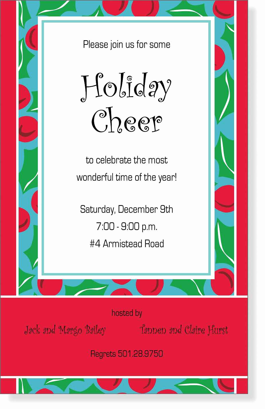 Christmas Open House Invitation Wording New Christmas Open House Invitations Christmas Open House