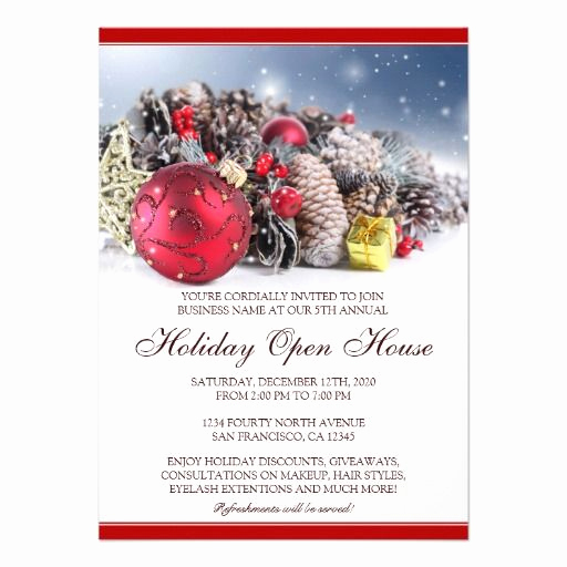 Christmas Open House Invitation Wording Unique Festive Christmas & Holiday Open House Invitations