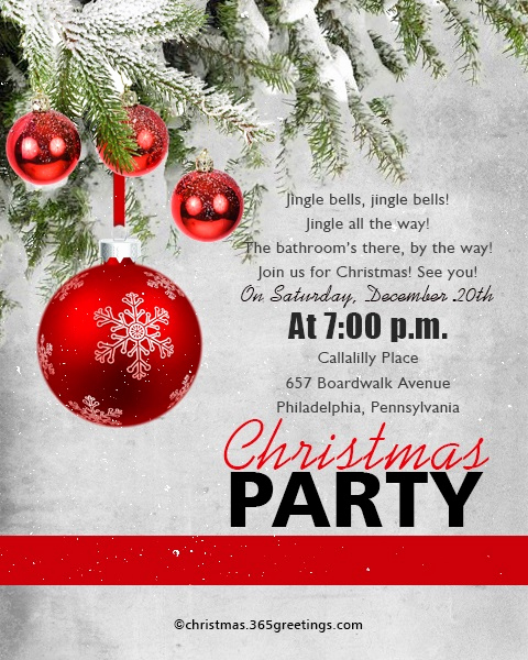 Christmas Party Invitation Idea Beautiful Christmas Invitation Template and Wording Ideas