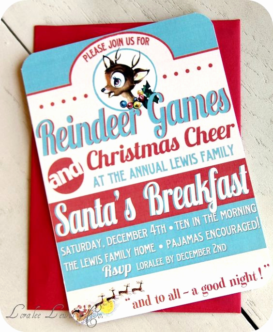 Christmas Party Invitation Idea Beautiful I Love This Flyer for This Invitation to the Reindeer