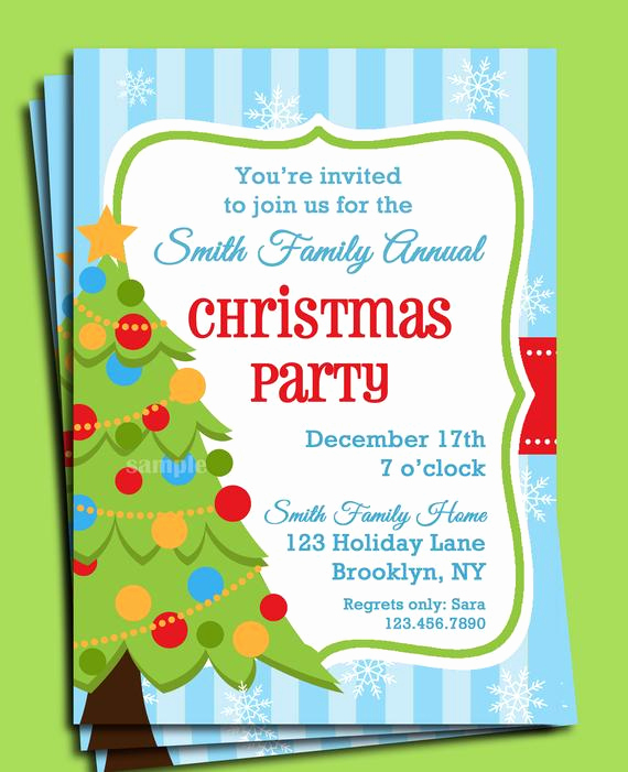 Christmas Party Invitation Idea Elegant Christmas Party Invitation Printable Christmas Tree In Snow