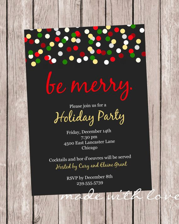 Christmas Party Invitation Idea Fresh 25 Best Ideas About Christmas Party Invitations On