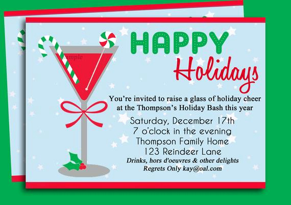 Christmas Party Invitation Idea Inspirational Christmas Cocktail Party Invitation Printable Holiday