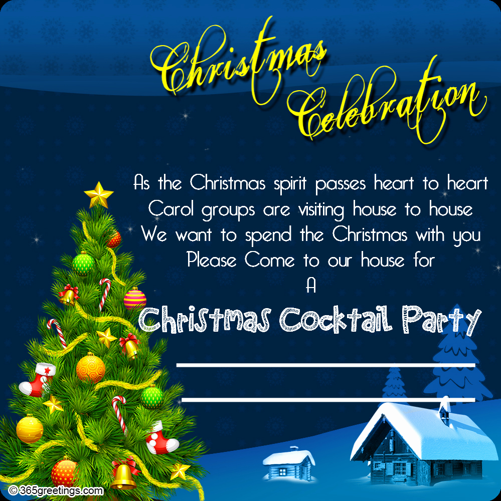 Christmas Party Invitation Ideas Awesome Christmas Invitation Template and Wording Ideas