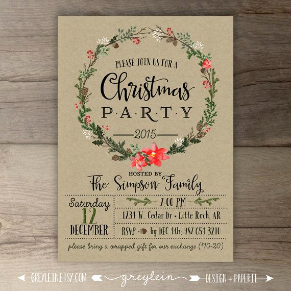 Christmas Party Invitation Ideas Fresh Best 25 Christmas Party Invitations Ideas On Pinterest