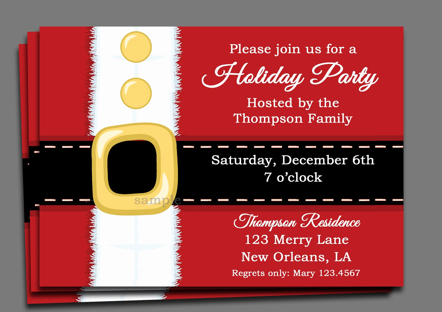 Christmas Party Invitation Ideas Unique Christmas Party Invitation Printable or Printed with Free