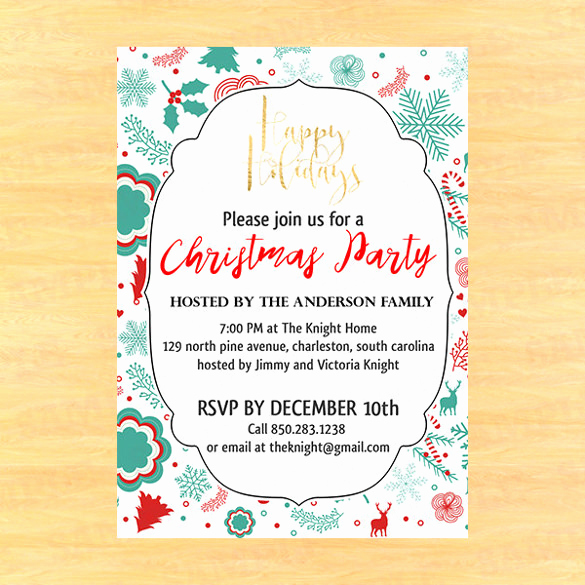 Christmas Party Invitation Template Awesome 32 Christmas Invitation Templates Psd Ai Word