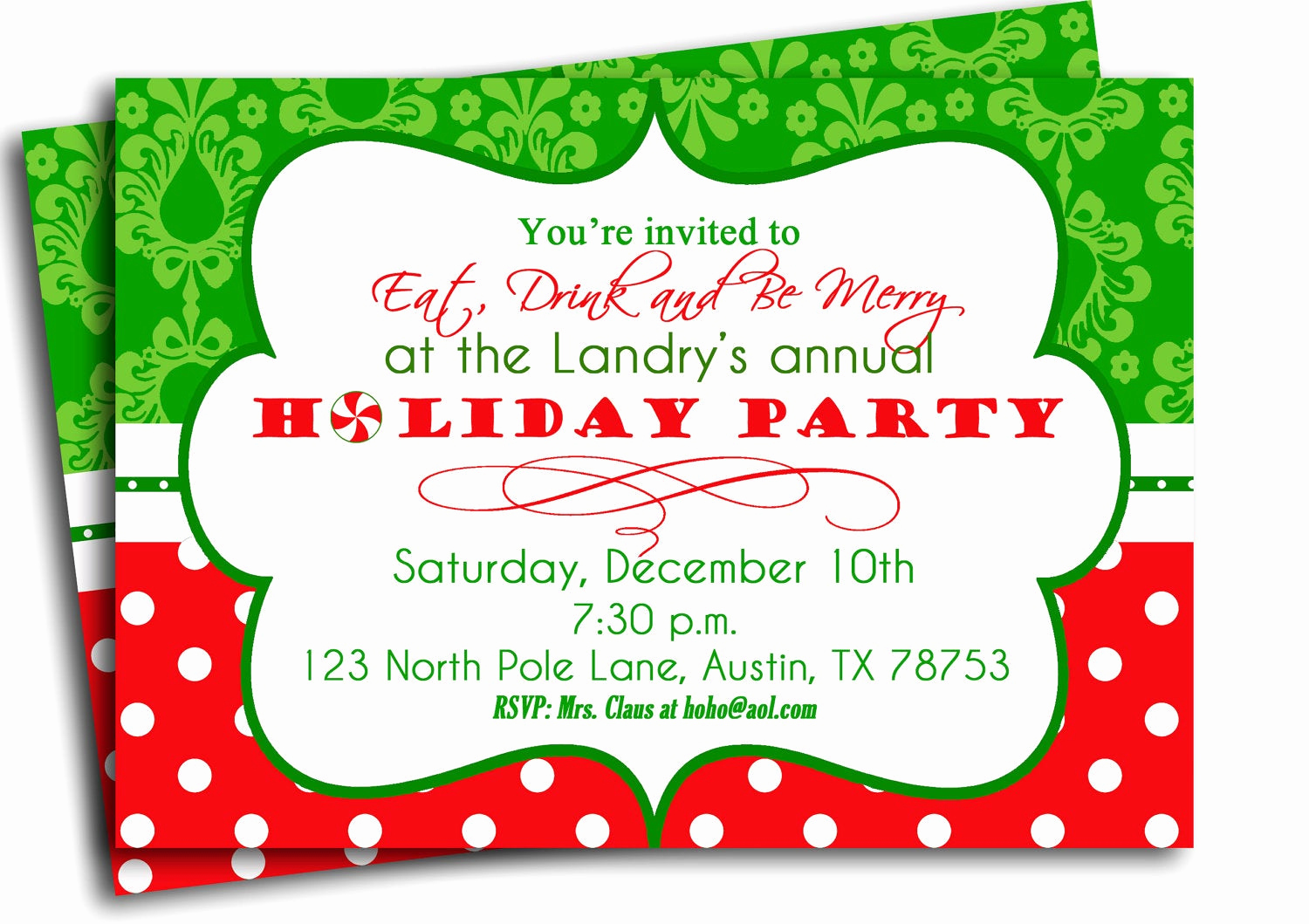 Christmas Party Invitation Template Awesome Christmas Party Invitation Printable Traditional Holiday