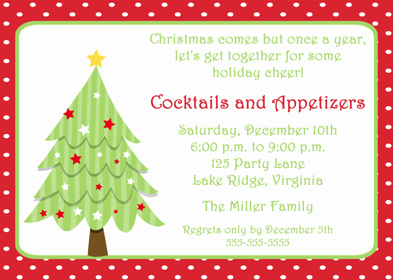 printable christmas tree invitation