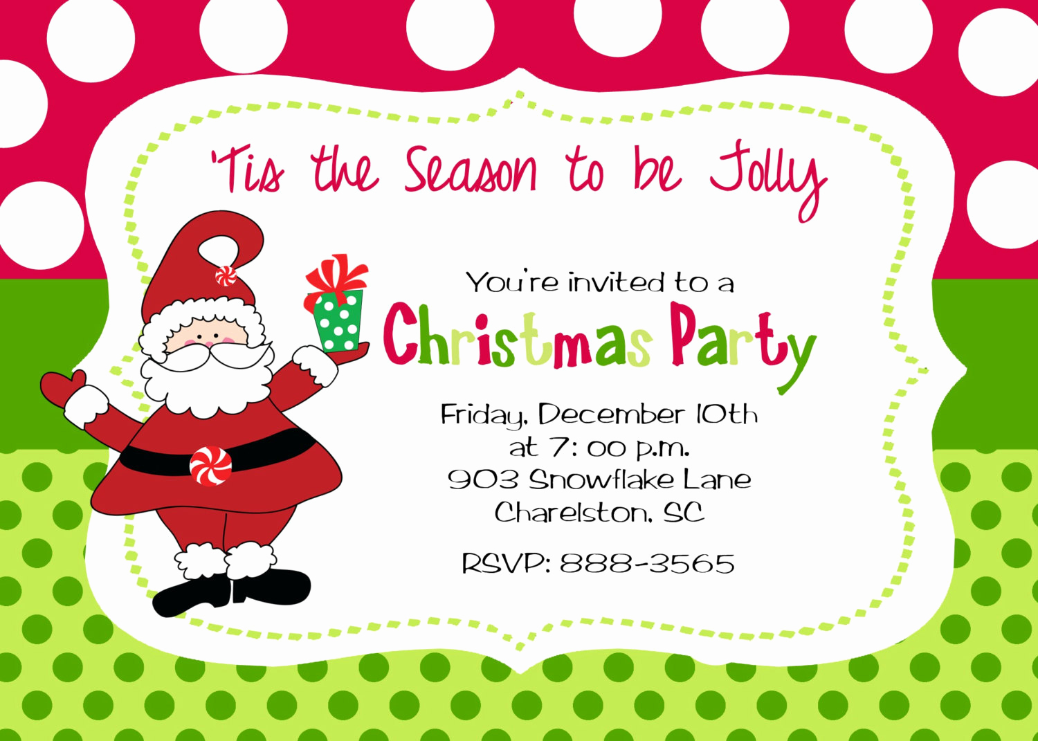 Christmas Party Invitation Template Best Of Christmas Party Invitation