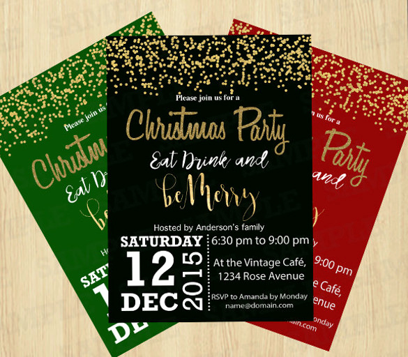 Christmas Party Invitation Template Elegant 32 Christmas Invitation Templates Psd Ai Word
