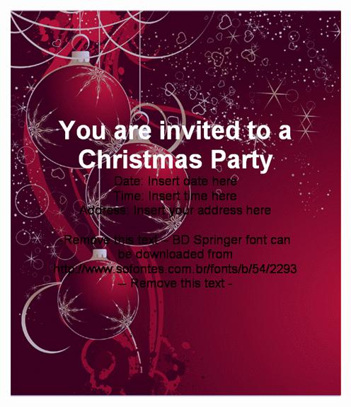 Christmas Party Invitation Template Elegant Beautiful Christmas Party Invitation Card