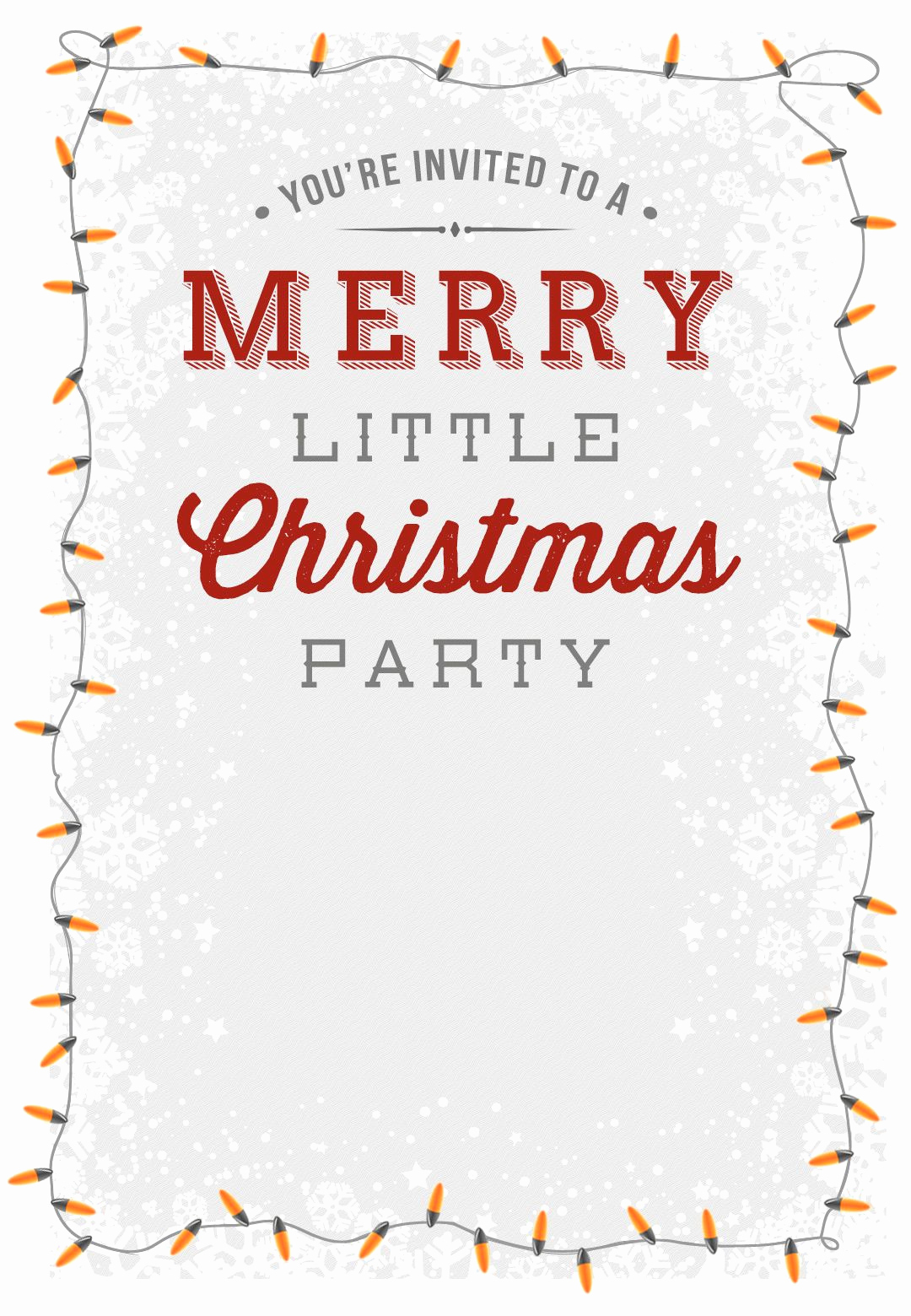 Christmas Party Invitation Template Fresh A Merry Little Party Free Printable Christmas Invitation