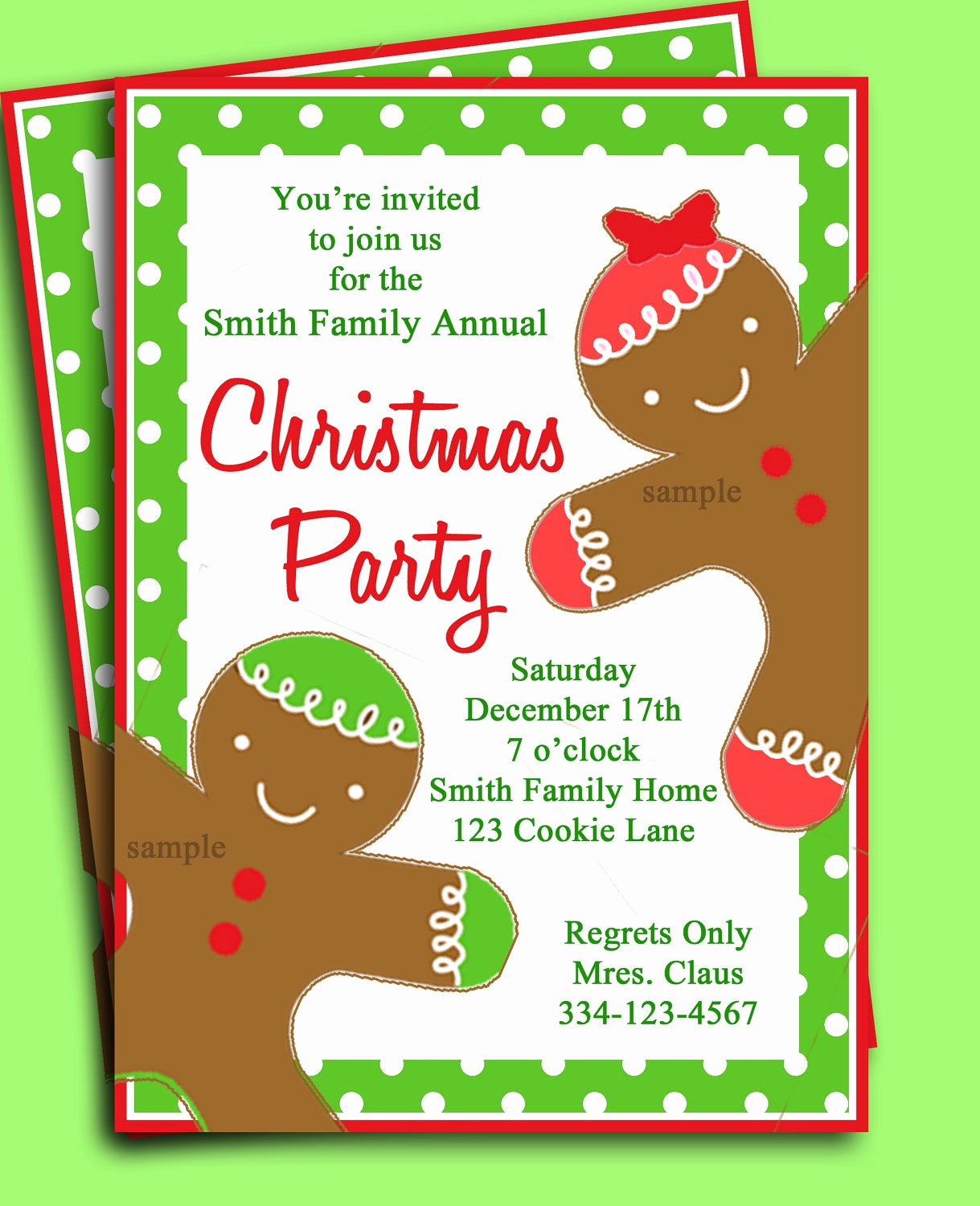 Christmas Party Invitation Template Fresh Christmas Party Invitation Printable Gingerbread Kid
