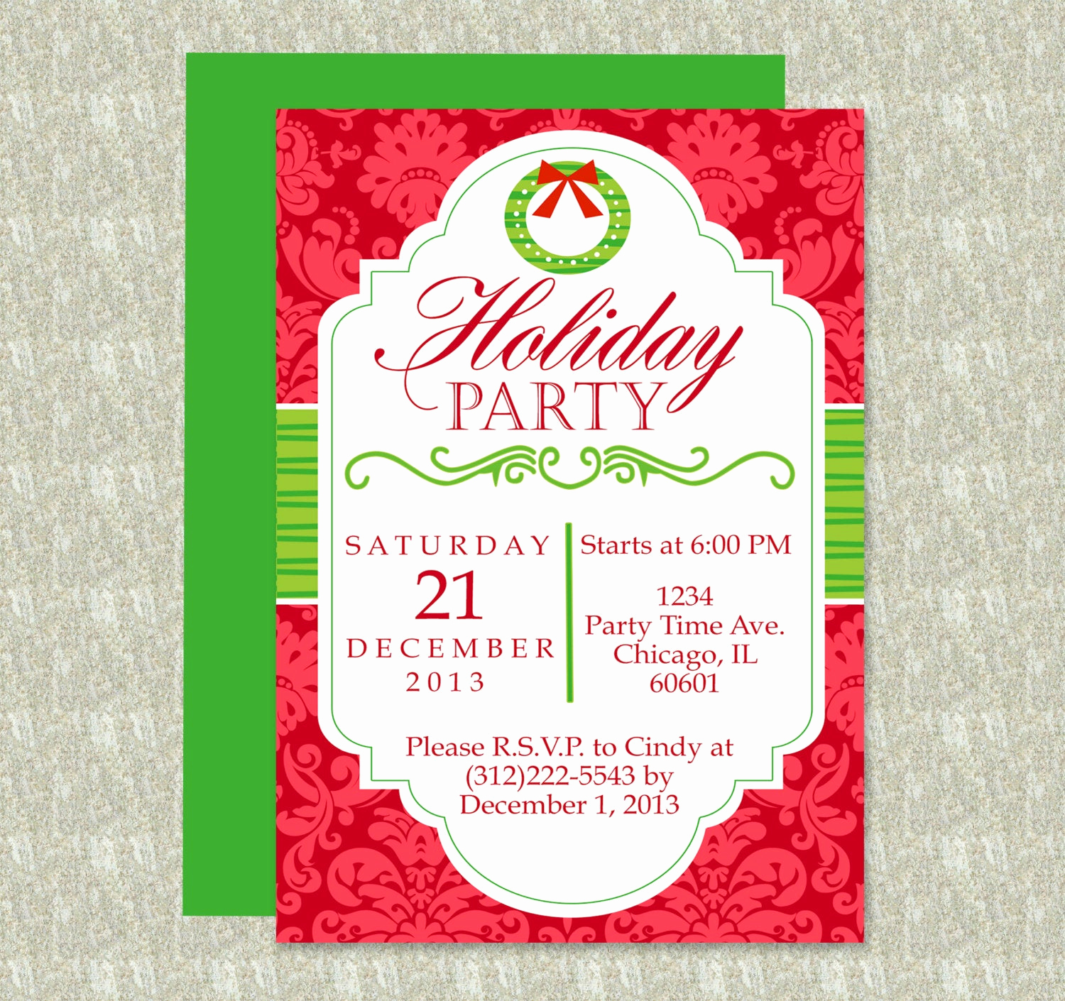 Christmas Party Invitation Template Fresh Holiday Party Invitation Editable Template Microsoft Word