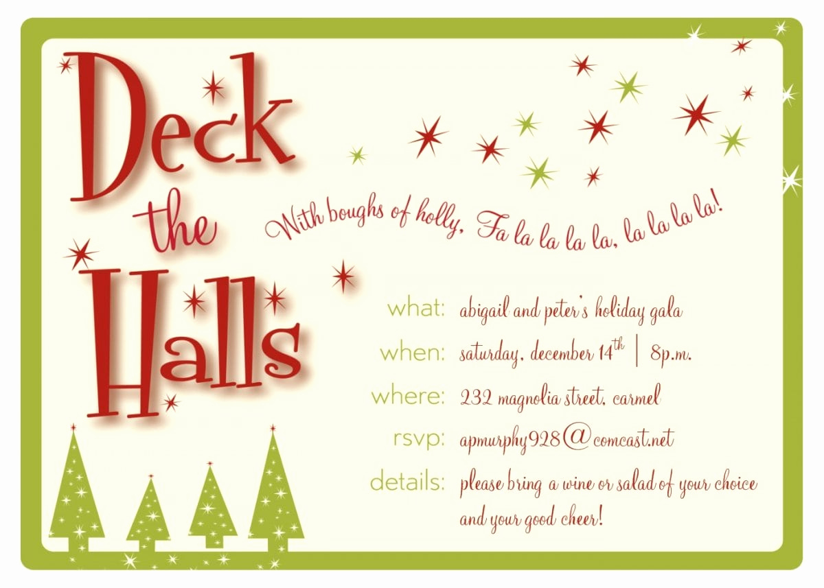 Christmas Party Invitation Template Inspirational Christmas Invitation Templates