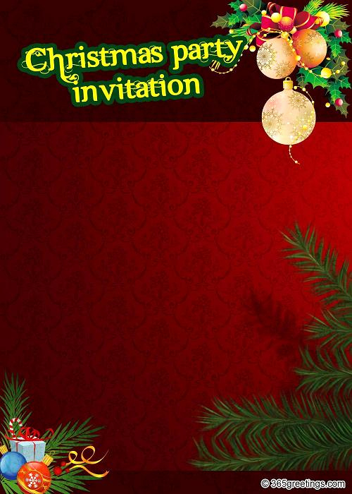Christmas Party Invitation Template Inspirational top Christmas Invitations for This Christmas Easyday