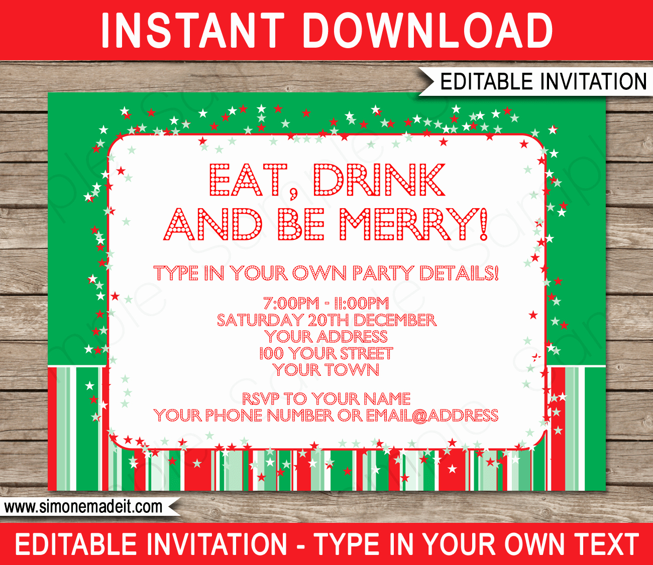 Christmas Party Invitation Template Luxury Christmas Party Invitations Template