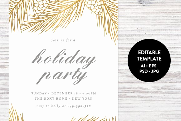 Christmas Party Invitation Template Luxury Holiday Party Invitation Template Invitation Templates