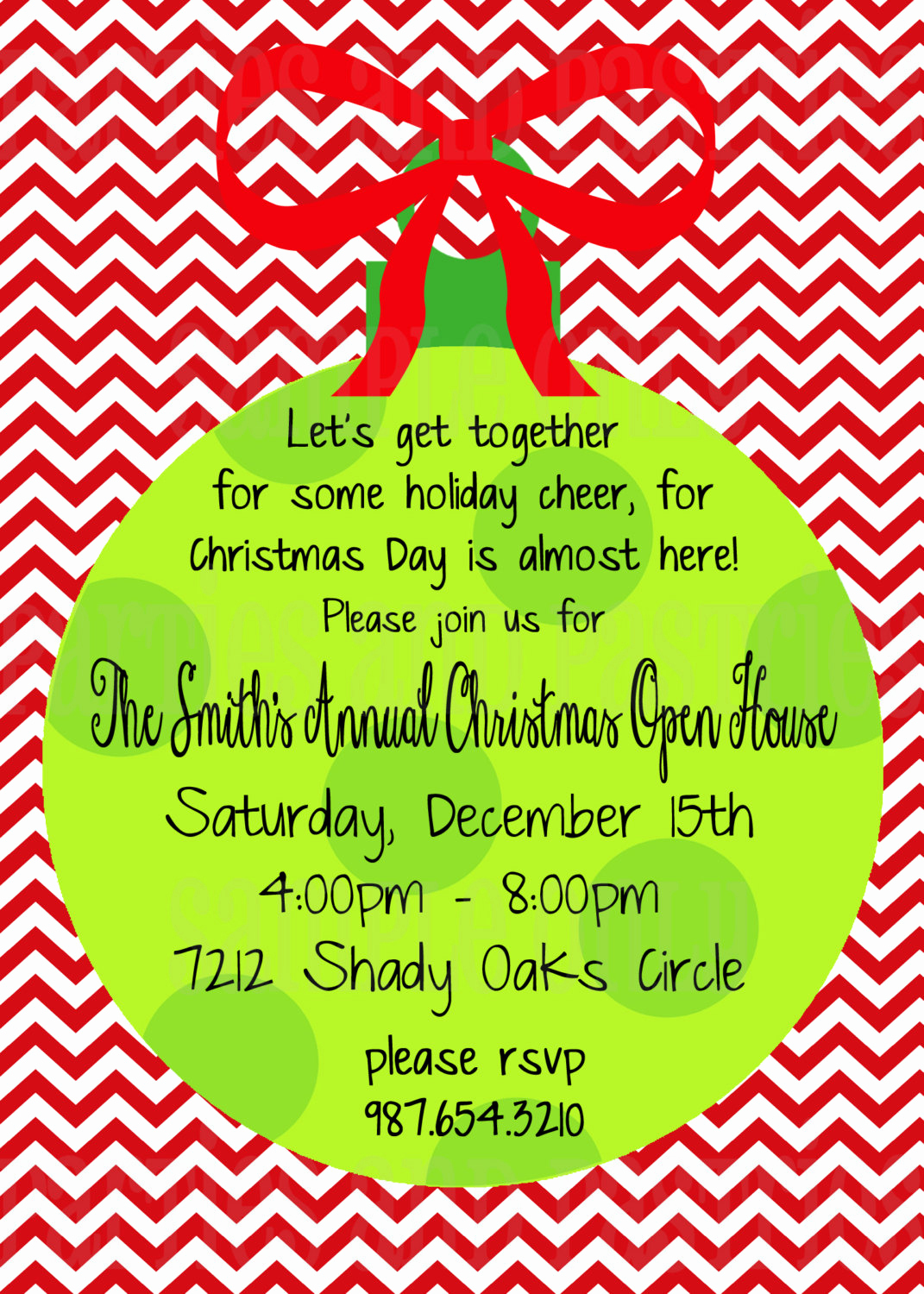 Christmas Party Invitation Wording Awesome Christmas Open House Invitation Holiday Party Invitation