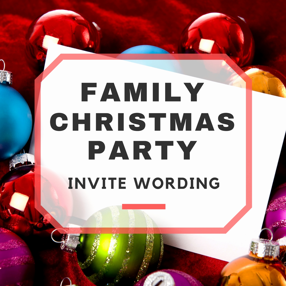 Christmas Party Invitation Wording Inspirational Family Christmas Party Invitation Wording