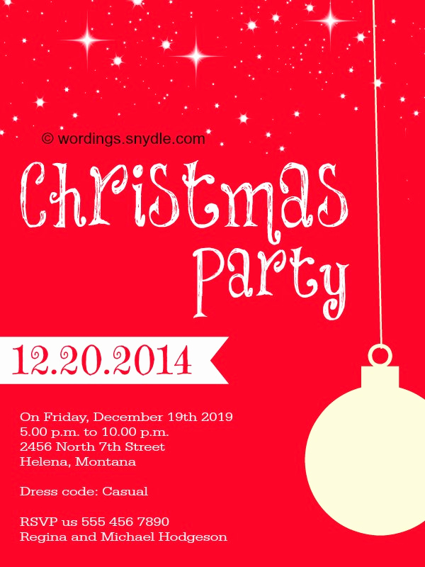 Christmas Party Invitation Wording Luxury Christmas Party Invitation Wordings Wordings and Messages
