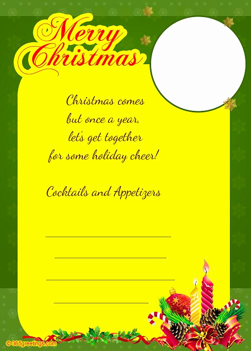 Christmas Party Invitation Wording New Christmas Invitation Template and Wording Ideas