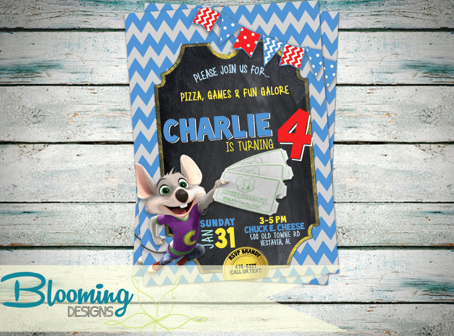 Chuck E Cheese Party Invitation Fresh Chuck E Cheese Invitation Birthday Party by
