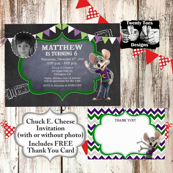 Chuck E Cheese Party Invitation Inspirational Items Similar to Chuck E Cheese Chalkboard Boy or Girl