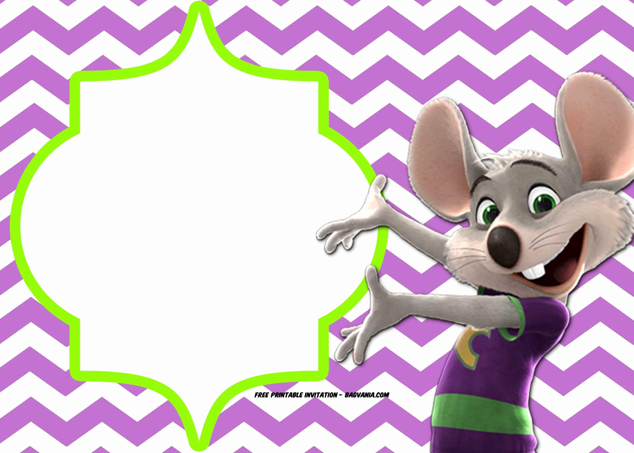 free chuck e cheese birthday invitation template