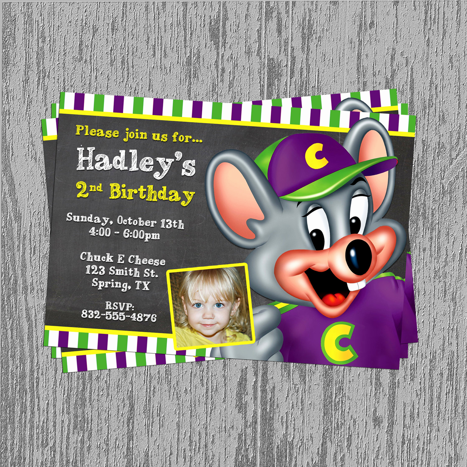 Chuck E Cheese Party Invitation Lovely Unavailable Listing On Etsy