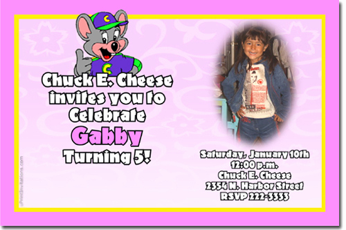 Chuck E Cheese Party Invitation Luxury Chuck E Cheese Birthday Invitations Candy Wrappers