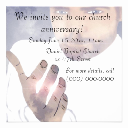 "Church Anniversary Invitation Cards Awesome Church Anniversary Invitation 5 25"" Square Invitation Card"