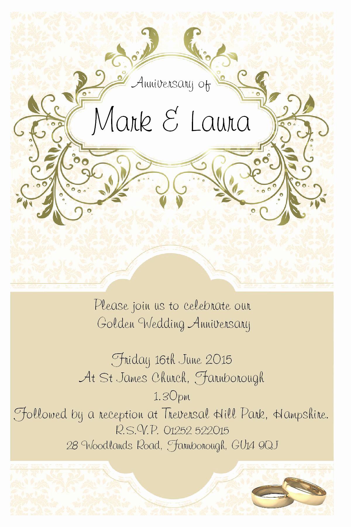 Church Anniversary Invitation Cards Beautiful Wedding Invitation Anniversary Invitation Template