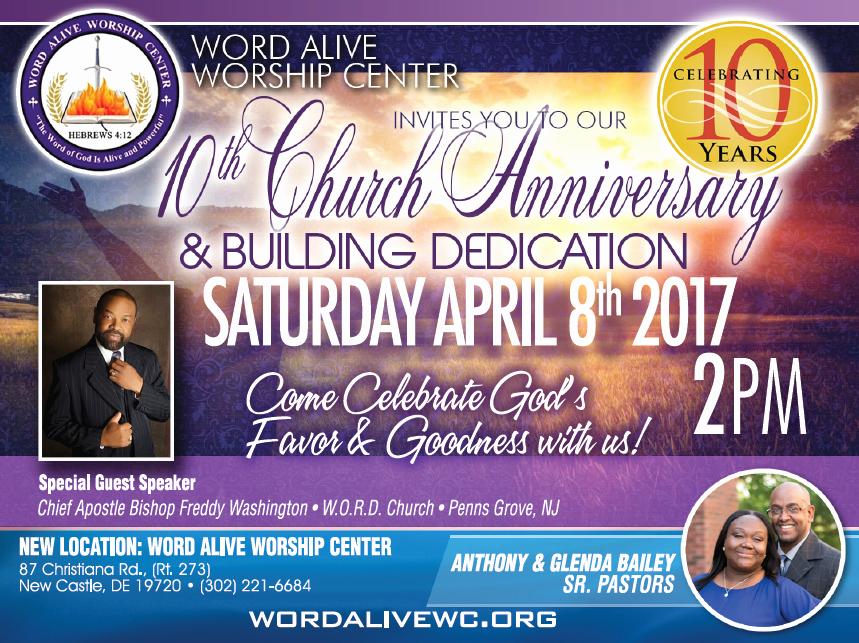 Church Anniversary Invitation Cards Elegant Wawc 10th Church Anniversary and Building Dedication
