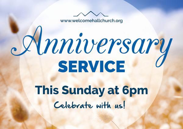 Church Anniversary Invitation Cards Luxury Church Anniversary Service format event Poster