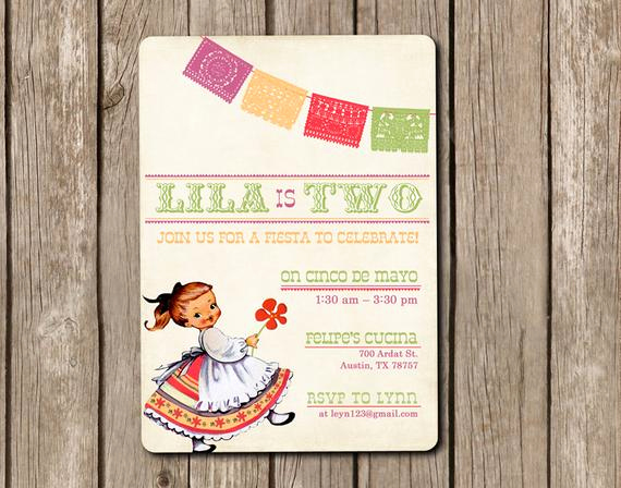 Cinco De Mayo Invitation Awesome Items Similar to Printed Cinco De Mayo Invitations and