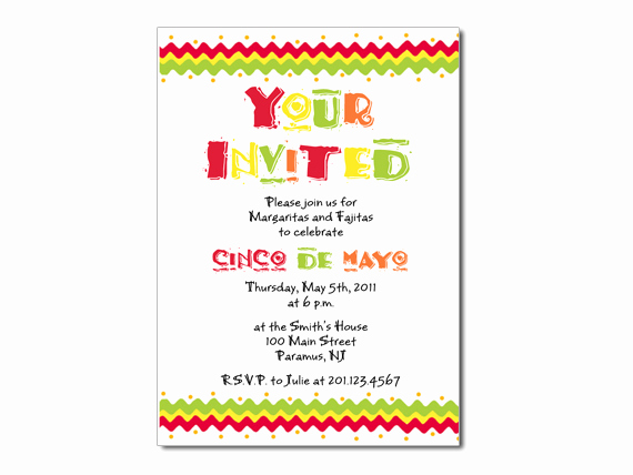 Cinco De Mayo Invitation Elegant Cinco De Mayo Custom Invitation On Luulla
