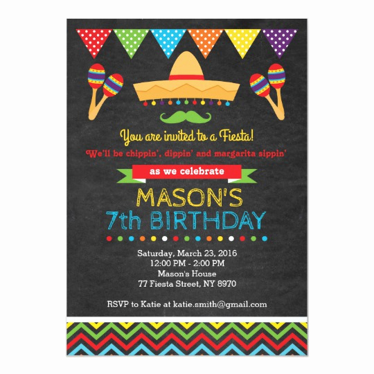 Cinco De Mayo Invitation Fresh Cinco De Mayo Birthday Invitation