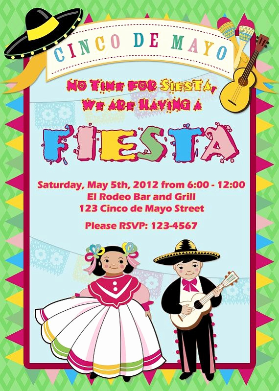 Cinco De Mayo Invitation Luxury 161 Best Images About Cinco De Mayo Invitations On