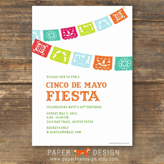 Cinco De Mayo Invitation New Cinco De Mayo Fiesta Party Invitation