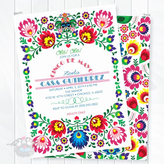 Cinco De Mayo Invitation New Cinco De Mayo Invitations Mexican Fiesta Invites Fiesta