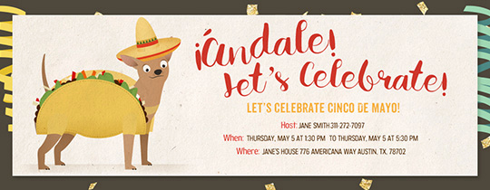 Cinco De Mayo Invitation Template Awesome Free Cinco De Mayo Party Invitations Evite