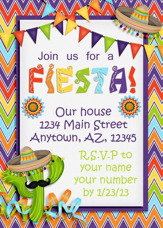 "Cinco De Mayo Invitation Template Beautiful Best 25 ""fiesta Invites"" Images On Pinterest"