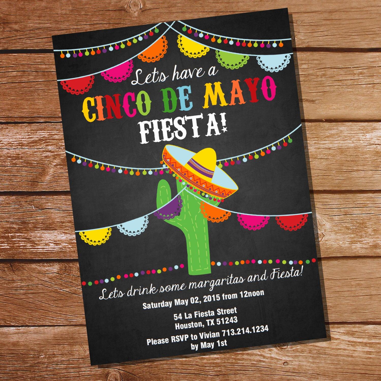 Cinco De Mayo Invitation Template Elegant Cinco De Mayo Fiesta Invitation Mexican Fiesta Invitation