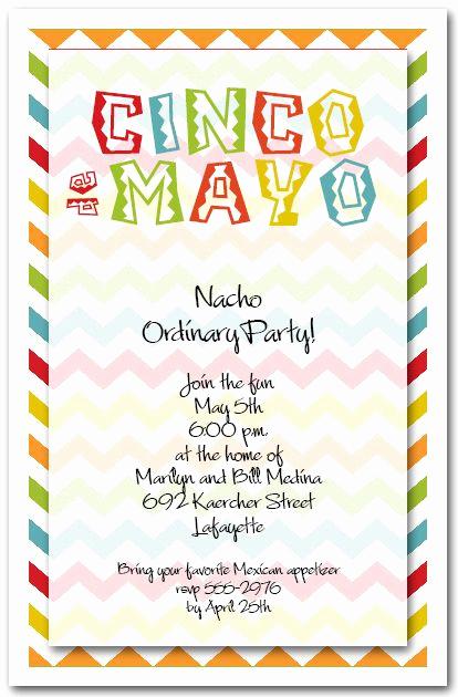 Cinco De Mayo Invitation Template Fresh Cinco De Mayo Chevron Party Invitations Mexican Fiesta