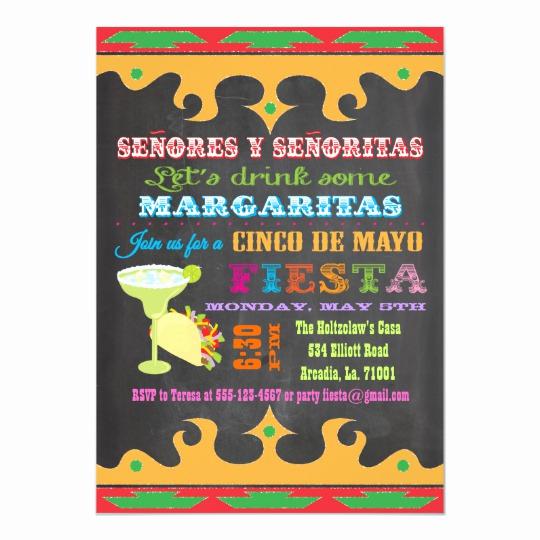 Cinco De Mayo Invitation Template Inspirational Chalkboard Mexican Fiesta Cinco De Mayo Invitation
