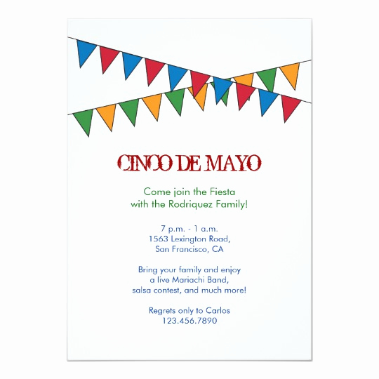 Cinco De Mayo Invitation Template Inspirational Cinco De Mayo Banner Invitation