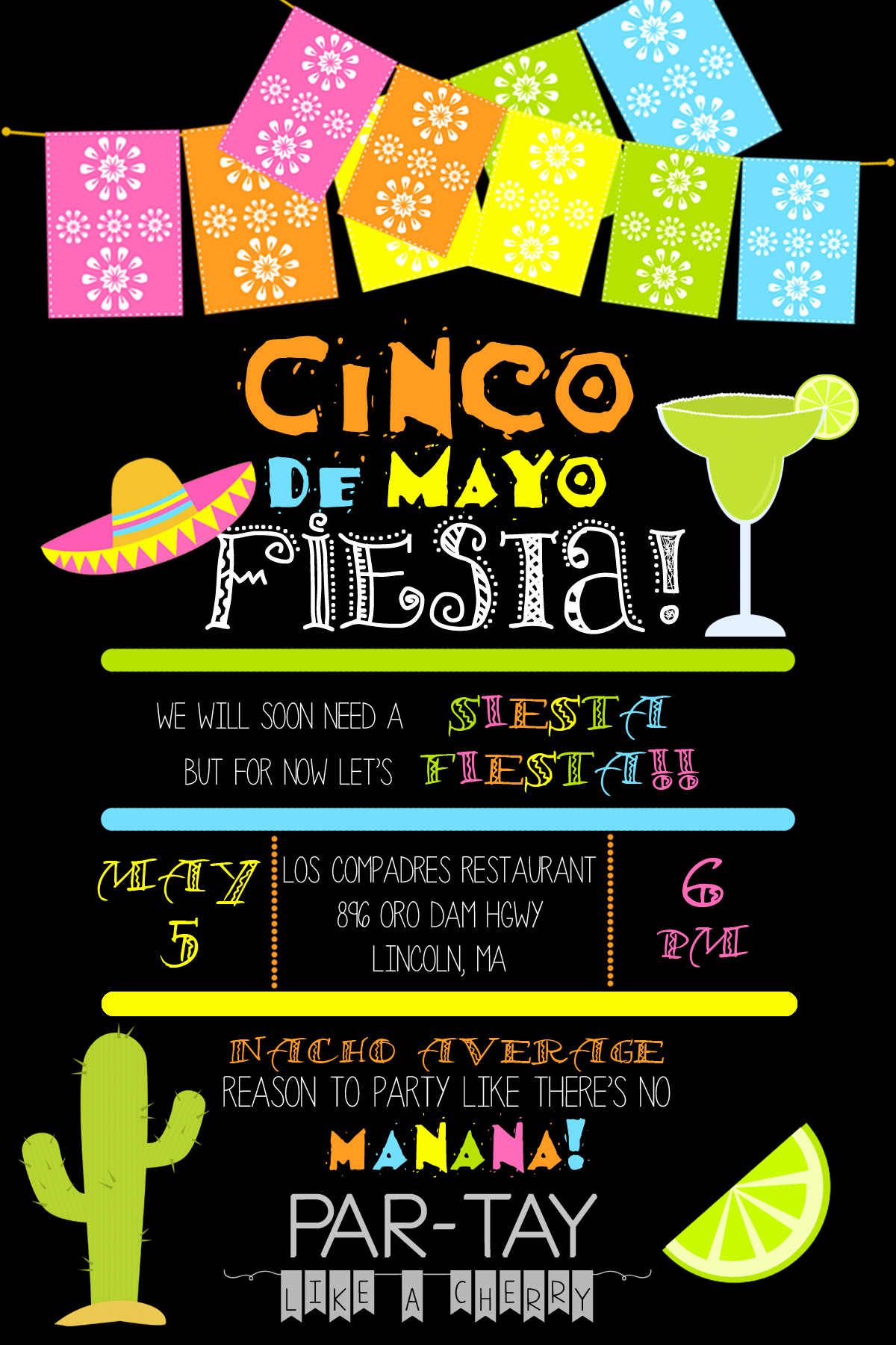 Cinco De Mayo Invitation Template Inspirational Cinco De Mayo Invitation Template Party Like A Cherry