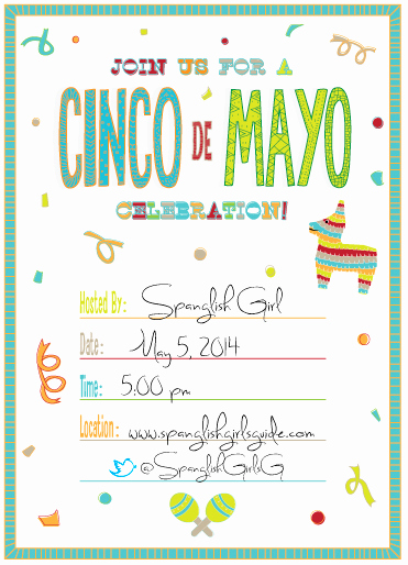 Cinco De Mayo Invitation Template Luxury Free Cinco De Mayo Invitation Template Spanglish Girl